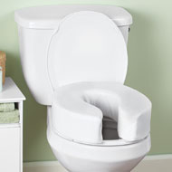 Cushioned Raised Toilet Seat Riser - 42575
