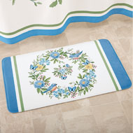 Bluebird Floral Wreath Bath Mat - 42588