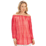 Off Shoulder Tie Dye Tunic Top - 42596