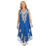 Paisley Medallion Print Summer Dress - 42624