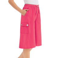 Crinkle Cotton Gauze Cargo Pocket Split Skirt - 42654