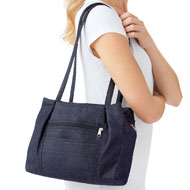 Multi Pocket Denim Shoulder Bag - 42663
