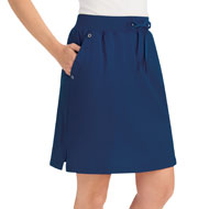 Pull-On Knit Skort with Grommet Side Pockets - 42670