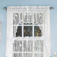 Songbird Lace Window Swags - Set of 2