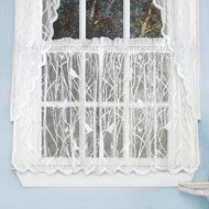 Songbird Lace Window Tier Pair