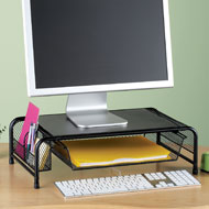 Black Metal Computer Monitor Desk Stand - 42690