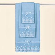 Lace Trim Bath Towel Set - 3pc.