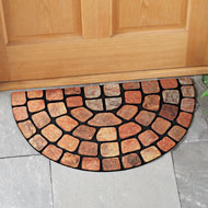 Textured Stone Slice Outdoor Mat