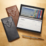 Embossed Cross Checkbook Cover - Set of 2 - 42727