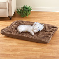 Brown Faux Fur Pet Bed Cushion - 42733