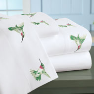 Hummingbird Embroidered Bed Sheet Set - 42768