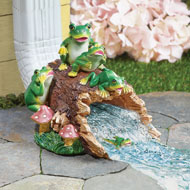 Frog Family Garden Downspout Cover Extension - 42803