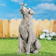 Dog and Butterfly Garden Statue Decoration - 42809