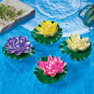 Water Lily Pond & Pool Floaters, Set of 4 - 42814