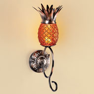 Pineapple Wall Lamp Sconce with Remote Control - 42829
