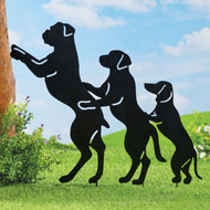 Conga Line Dog Silhouettes Yard Decoration - 42841