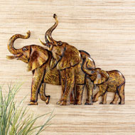 Elephant Family Safari Wall Art - 42854