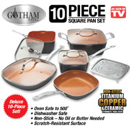 Gotham Steel Square 10-Piece Nonstick Cookware Set - 42868