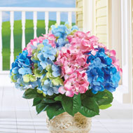 Artificial Hydrangea Bush Picks, Set of 3 - 42892