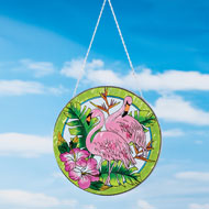 Tropical Flamingo Glass Suncatcher - 42908