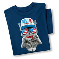 USA Cool Cat Novelty Summer T-Shirt - 42927