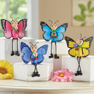 Butterfly Figurine Sitters - Set of 4