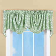 Floral Scroll Draped Window Valance - 42977