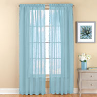 Wallace Pom-Pom Linen-Like Curtain Panel - 42985