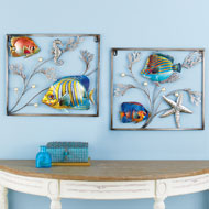 3-Dimensional Tropical Fish Metal Wall Art - 43199