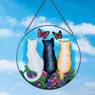 Cat Trio Colorful Glass Suncatcher - 43203