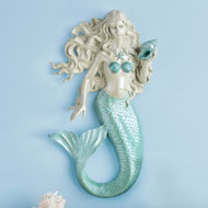 Coastal Mermaid 3D Sculpted Wall Art - 43204