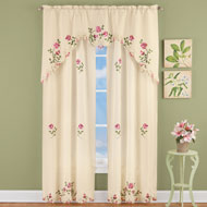 Elegant Pink Rose Floral Curtain Collection - 43212