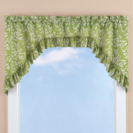 Ruffled Leaf Swag Curtain Valance - 43213