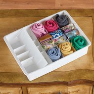 Set of 3 Drawer Organizers with Dividers - 43238