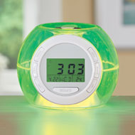 Color Changing Alarm Clock with Nature Sounds - 43249
