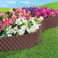 Faux Rattan Garden Border Edging, Set of 4 - 43264