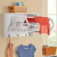 Accordion Wall Mounted Drying Rack with Shelf - 43269