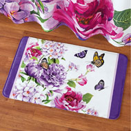 Butterfly Watercolor Floral Cushion Bath Mat - 43282
