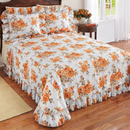 Amber Floral Plisse Ruffle Bedspread