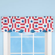 Americana Star Scalloped Curtain Valance - 43404