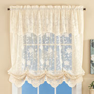 Floral Lace Balloon Shade Window Curtain - 43413
