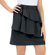 Tiered Knit Pull-On Skort Skirt - 43416