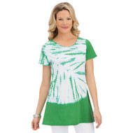 Starburst Tie Dye Short Sleeve Tunic Top - 43434