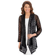 Lace Cascade Open Front Cardigan