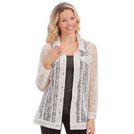 All Over White Lace Summer Cardigan Jacket - 43503