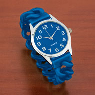 Easy To Read Silicone Stretch Band Watch