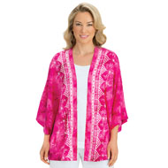 Tie Dye Open Front Summer Cardigan Jacket - 43516