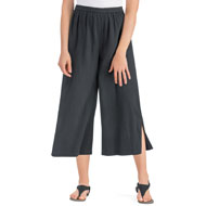 Crinkle Gauze Wide Leg Cotton Culottes - 43518