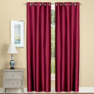 Insulated Faux Silk Curtain Panel Set of 2 - 43533