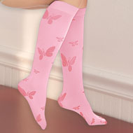 Butterfly Compression Knee High Socks